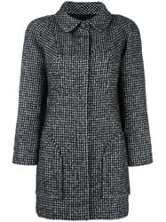 Chanel Vintage Boucle Coat Black
