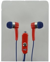 Mizco Washington Capitals Earbuds Team Color