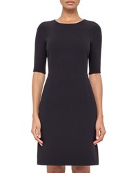 Akris Half Sleeve Round Neck Sheath Dress Starling