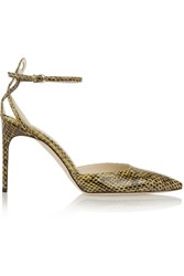 Brian Atwood Celeste Elaphe Pumps Yellow