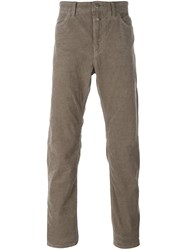 Closed Straight Leg Trousers Brown