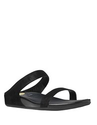 Fitflop Leather Slide Buckle Sandals Black