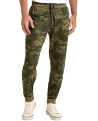 2Xist 2 X Ist Athleisure Men's Terry Jogger Sweatpants Olive Camo