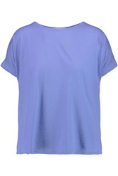 Kain Label Winnie Wrap Effect Textured Cotton And Cotton Jersey Top Blue
