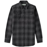 Off White Tartan Shirt Grey