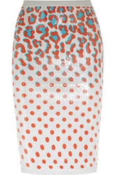 Sibling Sequined Printed Jersey Pencil Skirt