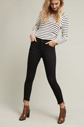 Anthropologie Mother Stunner High Rise Ankle Step Jeans Black