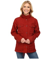 Fj Llr Ven Raven Jacket Deep Red Women's Coat