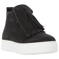 Dune Black Emperor Fringed High Top Trainers Black