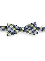 Original Penguin Onofre Plaid Check Silk Bow Tie Green