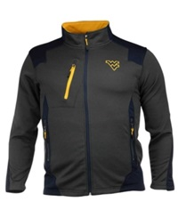 Colosseum Men's West Virginia Mountaineers Double Coverage Jacket Charcoal