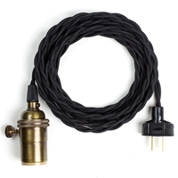 Pendant Lamp Cord Black Old Faithful Shop