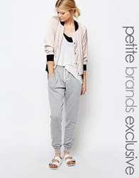 One Day Petite Jogger With Button Front Detail Gray Marl