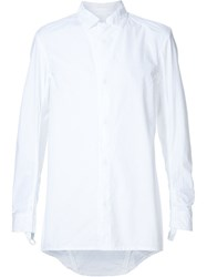 11 By Boris Bidjan Saberi Concealed Snap Button Shirt White