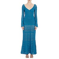 Philosophy Di Alberta Ferretti Women's Mixed Stitch Long Dress No Color