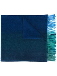 Paul Smith Ps By Ombre Scarf Blue