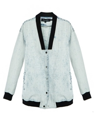 The Fifth Denim Bomber Jacket The Fifth Jacket
