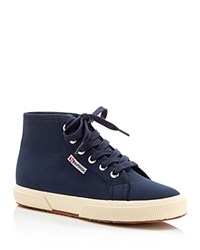Superga Cotu Classic Lace Up High Top Sneakers Navy