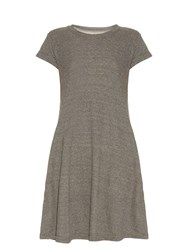 Current Elliott The Beach Tee Cotton Blend Dress Grey