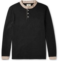 Kent And Curwen Contrast Trimmed Cotton Jersey Polo Shirt Black