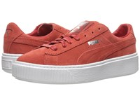 Puma Suede Creeper Core Barbados Cherry Barbados Cherry White Women's Shoes Brown