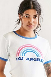 Truly Madly Deeply Flocked Rainbow Cities Tee Los Angeles