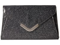 Jessica Mcclintock Lily Small Glittered Envelope Clutch Black Clutch Handbags