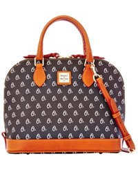 Dooney And Bourke Baltimore Orioles Mlb Zip Satchel Black