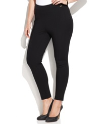 Calvin Klein Plus Size Pull On Skinny Ponte Pants Black