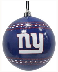 Memory Company New York Giants Ugly Sweater Ball Ornament Blue