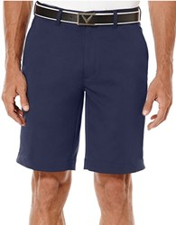Callaway Flat Front Textured Tech Shorts Blue