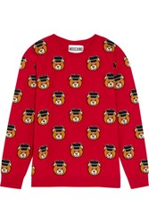 Moschino Intarsia Wool Sweater Red