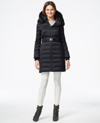Dkny Quilted Puffer Parka Jacket Navy