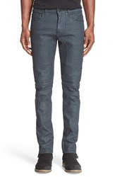 Belstaff Men's 'Elmbridge' Slim Fit Coated Moto Jeans Legion Blue