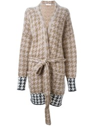 A.F.Vandevorst 'Thursday' Cardi Coat Nude And Neutrals