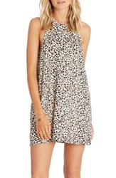 Billabong Women's Wild Sun Animal Print Shift Dress