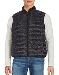 Hawke And Co Packable Water Resistant Reversible Quilted Vest Camo Black