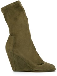 Rick Owens Stretch Booties Green