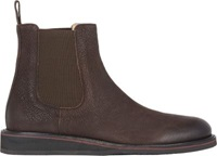 Barneys New York Wedge Sole Chelsea Boots Brown
