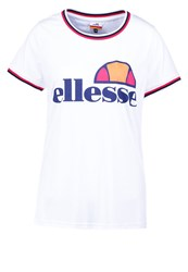 Ellesse Sancia Print Tshirt Optic White