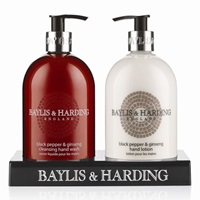 Baylis And Harding Black Pepper And Ginseng Hand Wash And Lotion Set