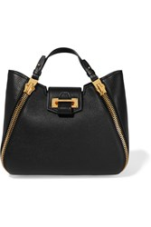 Tom Ford Sedgewick Small Textured Leather Tote Black