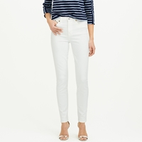 J.Crew Tall Lookout High Rise Cone Denim Jean In White