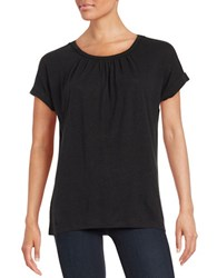 Lord And Taylor Pintucked Tee Black