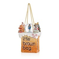 Bloomingdale's Little Brown Bag Nutcracker Ornament Multi