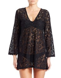 J Valdi Daisy Lace Cover Up Black