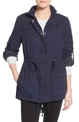 Women's Levi's Lightweight Cotton Hooded Utility Jacket Navy