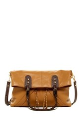 Isabella Fiore Metro Leather Tote Brown