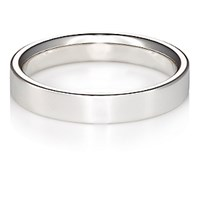 Barneys New York Men's Flat Band Ring Silver