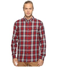 Vans Lachlan Flannel Red Dahlia Frost Grey Men's Clothing Brown